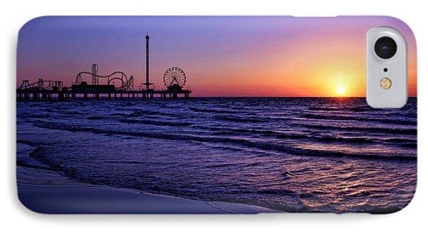 Pleasure Pier Sunrise IPhone Case by Judy Vincent