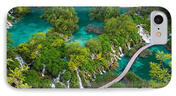 Plitvice Boardwalk IPhone Case by Inge Johnsson