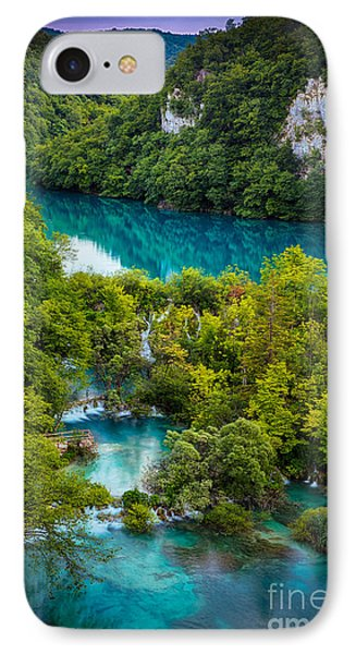 Plitvice Twilight IPhone Case by Inge Johnsson