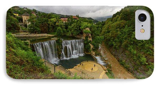 Pliva Waterfall, Jajce, Bosnia And Herzegovina IPhone Case