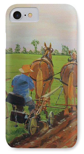 Plowing Match IPhone Case by David Gilmore