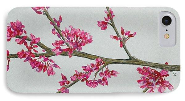 Plum Blossom Phone Case by Glenda Zuckerman