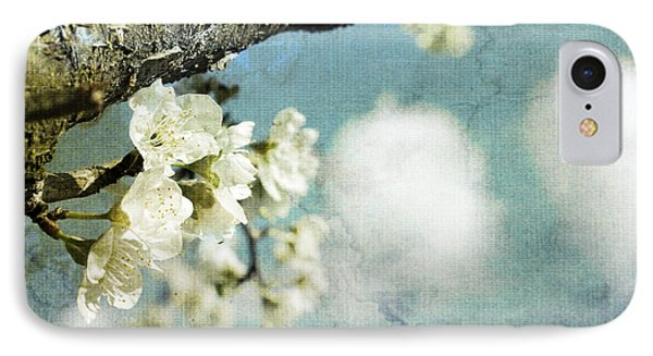 Plum Blossoms And Puffy Clouds IPhone Case by Cindy Garber Iverson
