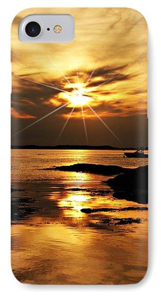 Plum Cove Beach Sunset E IPhone Case