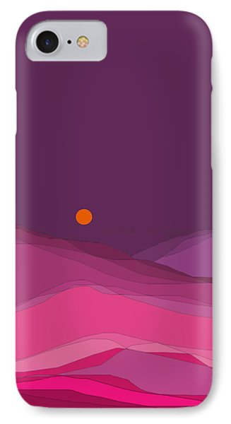 IPhone Case featuring the digital art Plum Hills II by Val Arie