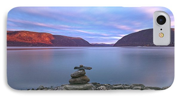 Plum  Point Rock Cairn At Sunset IPhone Case