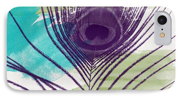 Peacock iPhone 7 Case - Plumage 2-art By Linda Woods by Linda Woods