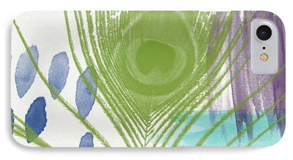 Plumage 4- Art By Linda Woods IPhone Case by Linda Woods