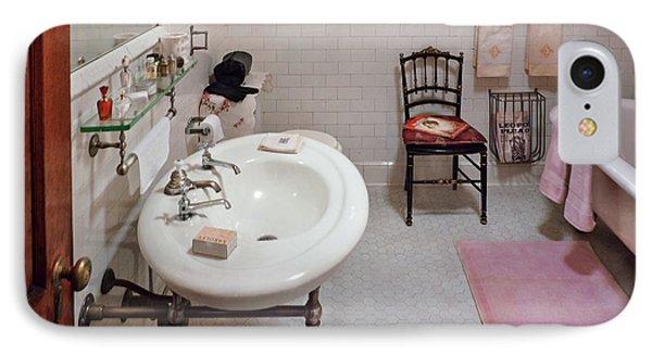 Plumber - The Bathroom  Phone Case by Mike Savad