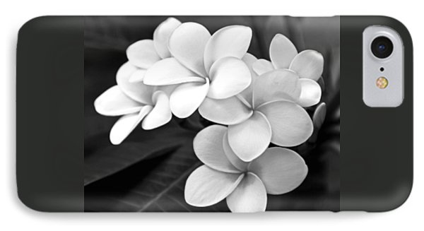 Plumeria - Black And White IPhone Case