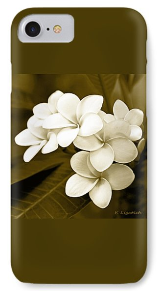 Plumeria - Brown Tones IPhone Case