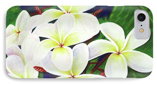 Plumeria Flower #289 Phone Case by Donald k Hall