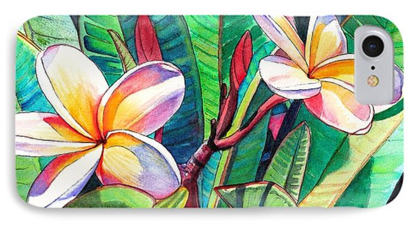 Plumeria Garden IPhone Case by Marionette Taboniar