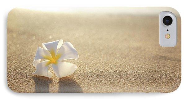 Plumeria On Beach I Phone Case by Brandon Tabiolo - Printscapes
