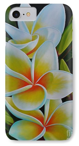 IPhone Case featuring the painting Plumeria by Paula L