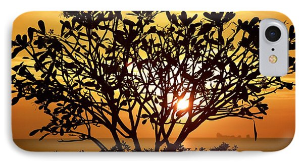 IPhone Case featuring the photograph Plumeria Sunset by Colleen Williams