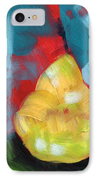 Pear iPhone 7 Case - Plump Pear- Art By Linda Woods by Linda Woods