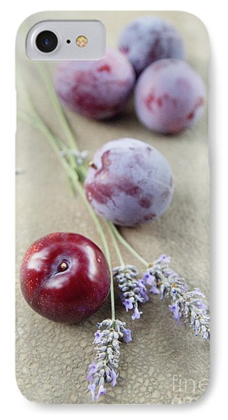 IPhone Case featuring the photograph Plums And Lavender by Cindy Garber Iverson