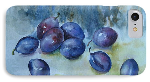 IPhone Case featuring the painting Plums by Elena Oleniuc