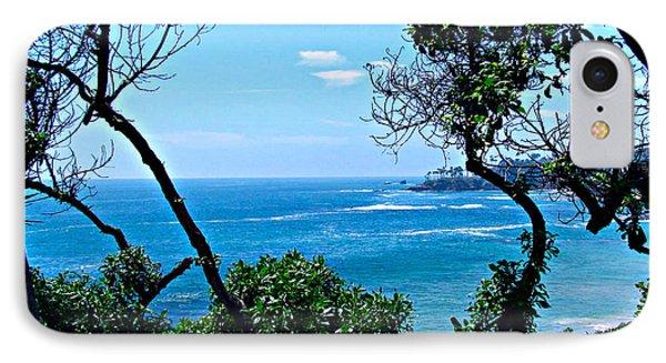 Plush Green To Ocean View Phone Case by Debra     Vatalaro