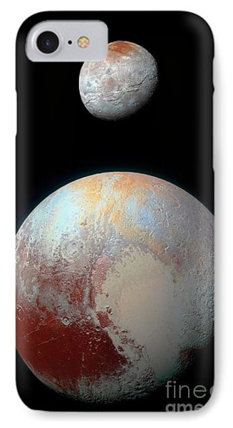 IPhone Case featuring the photograph Pluto And Charon by Nicholas Burningham