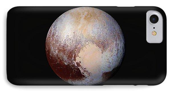 Pluto Dazzles In False Color IPhone Case by Nasa