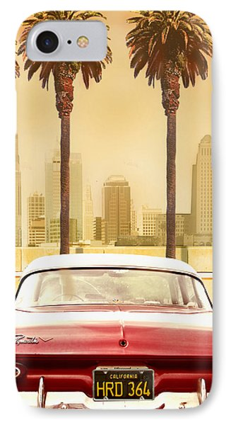 Plymouth Savoy With Palm Trees Phone Case by Larry Butterworth