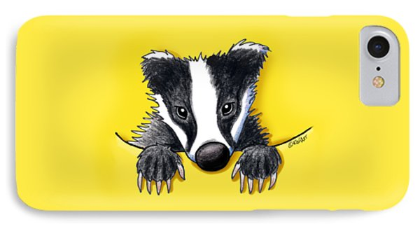Pocket Badger IPhone Case by Kim Niles
