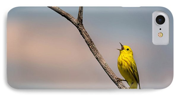 Poetrait Of The Yellow Warbler IPhone Case by Bill Wakeley