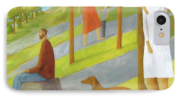IPhone Case featuring the painting Poets Hill by Glenn Quist