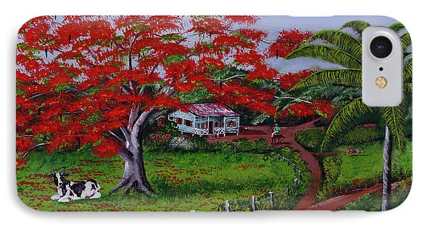 Poinciana Blvd IPhone Case by Luis F Rodriguez
