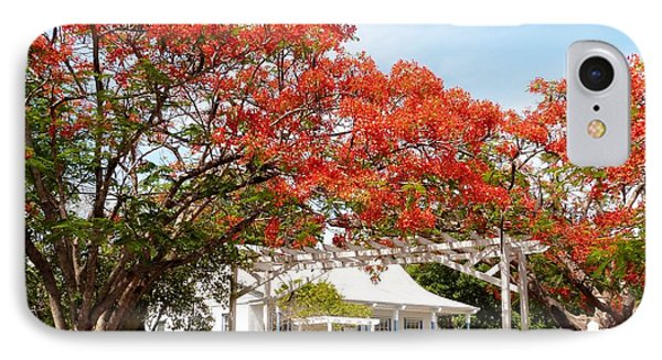 Poinciana Cottage IPhone Case by Amar Sheow