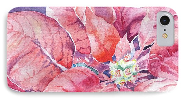 IPhone Case featuring the painting Poinsettia Glory by Mary Haley-Rocks