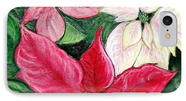 Poinsettia Pastel Phone Case by Nancy Mueller