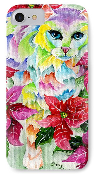Poinsettia Sweetheart Phone Case by Sherry Shipley