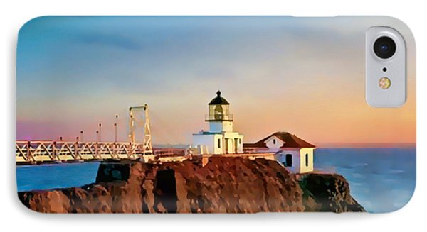 IPhone Case featuring the painting Point Bonita Lighthouse by Douglas MooreZart