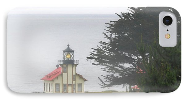 Point Cabrillo Light Station Ca - Lighthouse In Damp Costal Fog Phone Case by Christine Till