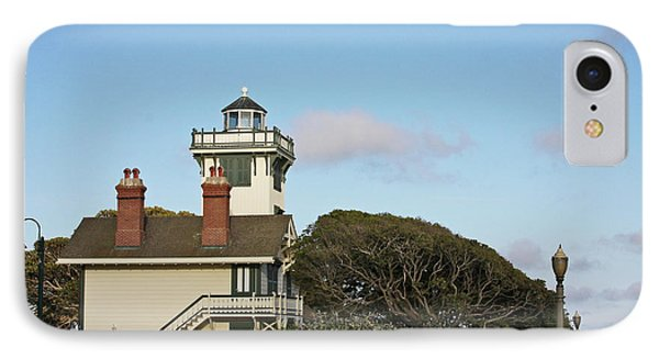 Point Fermin Light - An Elegant Victorian Style Lighthouse In Ca Phone Case by Christine Till