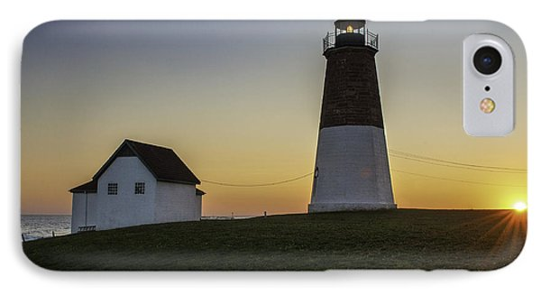 Point Judith Light At Sunset Phone Case by Thomas Schoeller