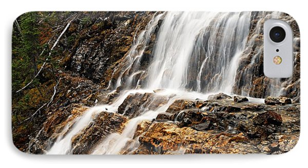 Point Lace Falls 1 Phone Case by Larry Ricker