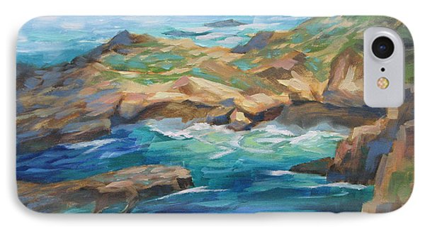 Point Lobos Cove IPhone Case by Karin Leonard