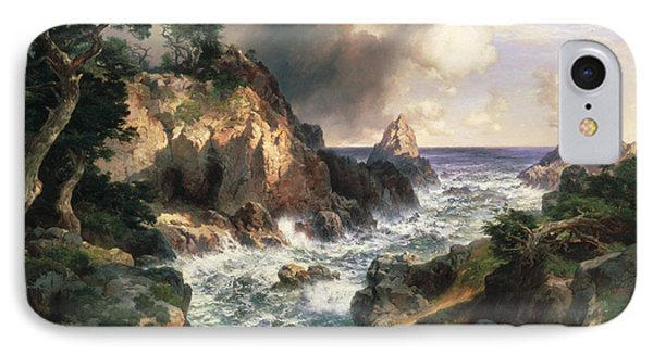 Point Lobos Monterey California IPhone Case by Thomas Moran