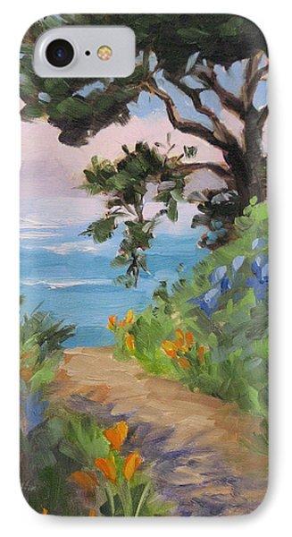 Point Lobos View IPhone Case by Karin Leonard