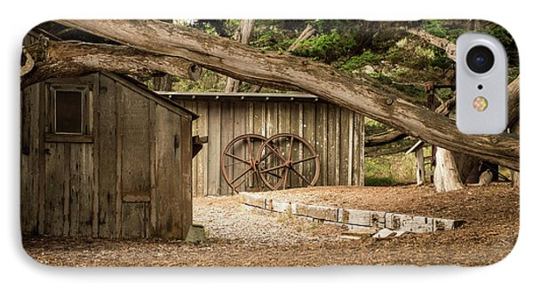 Point Lobos Whaler's Cabin IPhone Case by Linda Baker