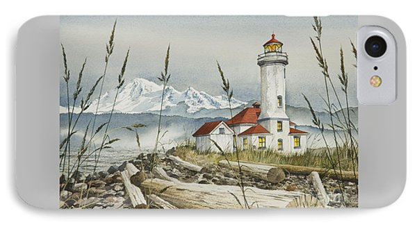 Point Wilson Lighthouse IPhone Case by James Williamson