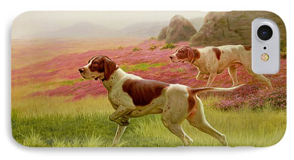 Pointers In A Landscape IPhone Case by Harrington Bird
