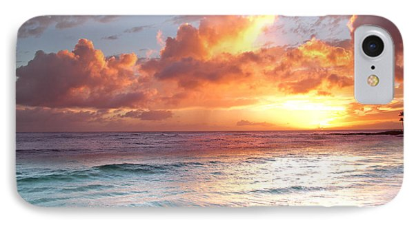 Poipu Beach Sunset IPhone Case by Roger Mullenhour
