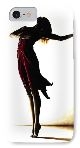 Poise In Silhouette IPhone Case by Richard Young