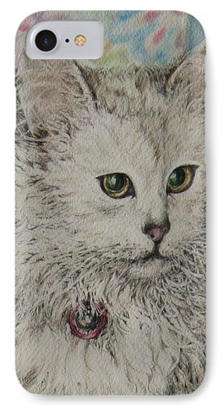 Poised Cat IPhone Case by Kim Tran