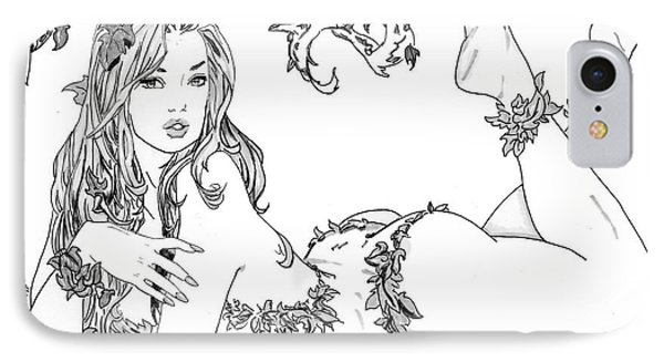 Poison Ivy - Grayscale Phone Case by Bill Richards